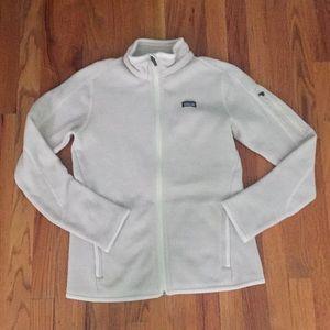 Patagonia light tan, size M, zip up jacket